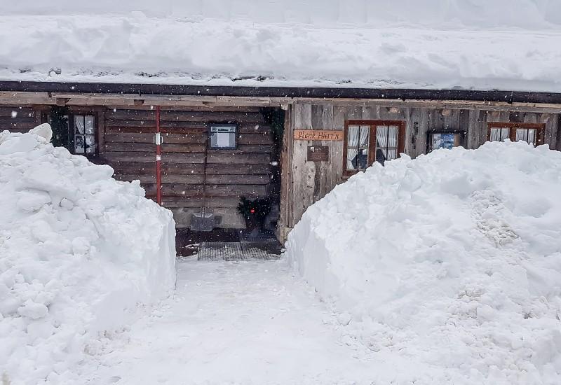 Langlaufhütte Plenk Schnee