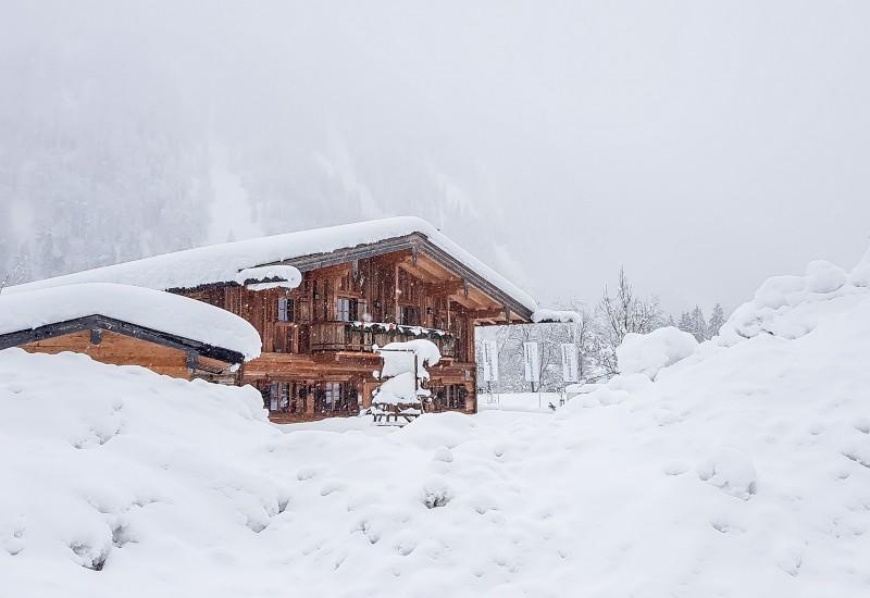 Zirmbergalm Schnee
